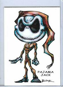 PAJAMA JACK ** NIGHTMARE BEFORE CHRISTMAS ** TRADING CARD ART SIGNED by RAK