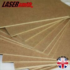 Pack of 5, A3 MDF sheets, 3mm Thick, Safe for Pyrography and Laser Cutting