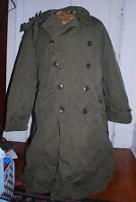 Vintage WWII ARMY Officers OD Field Overcoat Size 44l W/ Liner