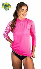 Banana Boat Women's Long Sleeve Rashguard UPF50+  Neon Pink Medium