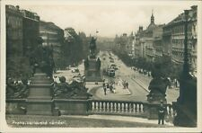 RPPC,Prague,Czechoslovakia, St Venceslas Square posted December 1918