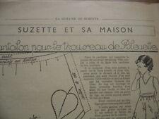 Patron Couture Original BLEUETTE de la SEMAINE DE SUZETTE 1938 Pantalon