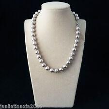 35bb66512659 100% Original Hermoso Mar Concha Perla Collar De Plata 10MM 18