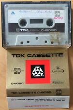 TDK C-60SD VINTAGE CASSETTE TAPE VERY RARE CLEAN INLAY CARD SUPER DYNAMIC