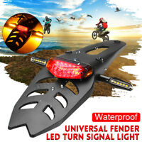 Universal Motorcycle Fender LED Brake Stop Rear Tail Turn Light Enduro