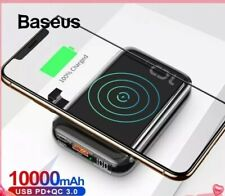 Baseus 10000mAh Powerbank 10W Qi Wireless Charger Portable External Battery