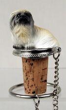 Pekingese Dog Hand Painted Resin Figurine Wine Bottle Stopper