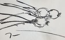 JOSE TRUJILLO Original Charcoal on Paper Sketch Drawing 11X17 ONIONS KITCHEN ART