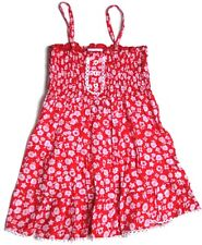 BABY GIRLS PRETTY RED TIERED RUCHED COTTON SUN DRESS 18-24 MONTHS
