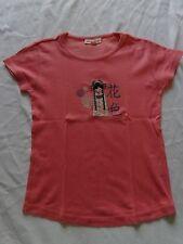 tee shirt 12 ans saumon 100 coton manches courtes