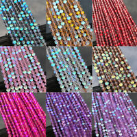 1String Natural Gemstone Loose Beads Holographic Quartz Matte Stone 6/8/10mm Lot
