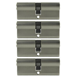 4x Cylindre Profil 80mm 40/40 Avec 20x Clé Porte Zylinder S'Ouvrant la Même Clé