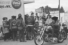 Hells Angels Motorcycle Gang Fresno California 1970's Rally 8.5x11 Photo
