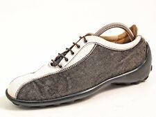 Tod's Fashion Sneakers Black Denim Leather Women Size EU 37 US 7