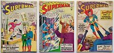 Superman #159, 160, 161 (1963, DC) Lois-Krypton Supermaid, Death of Ma & Pa Kent