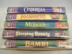 WALT DISNEY MASTERPIECE COLLECTION (5) SEALED VHS TAPES