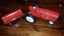 Vintage Tru Scale Diecast Metal Farm Toy Red Tractor and Trailer