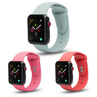 3 Pack Apple Watch Soft Silicone Sport Strap Loop Band Series 4 3 2 1 Nike+