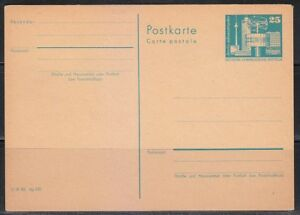 Germany DDR mint post card postkarte Alexanderplatz,Berlin.Blue stamp