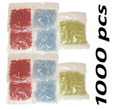 (1000) BUTT CONNECTORS ELECTRICAL WIRE TERMINALS  ALL SIZES - 22-10 GAUGE BULK