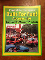 Ford Motor Company Accessories for Lincoln Mercury Products Info Brochure