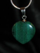 Malachite stone pendant snake chain necklace healing jewelry self confidence