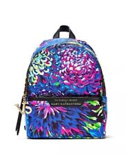 Victoria's Secret Small City Backpack Mary Katrantzou Fashion Show Blue Floral