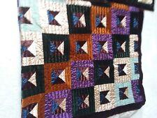 King Size Bedding Quilt Set 3Pc Velvet patchwork pattern with shams
