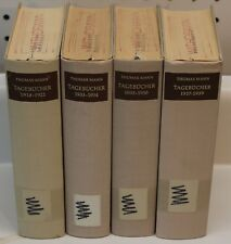 COLLECTION OF 4 TAGEBUCHER  THOMAS MANN 1918-1921 1933-1934 1935-1936 1937-1939