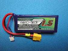 TURNIGY NANO-TECH 1500mAh 2S LIPO BATTERY 7.4V 25C XT60 LATRAX RALLY SST RC18 RC