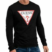 Guess Jeans Usa Men's Original Long Sleeve Logo T-Shirt - Black