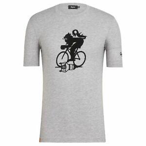RAPHA Men's Short Sleeve Cotton Blend Cycling T-Shirt Grey XXL BNWT RRP45