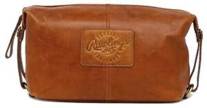 Genuine Leather Rawlings Tan Travel & Cosmetics Bag. Brand New. Free Fast Ship!