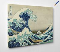🎨 Hokusai La Grande Onda di Kanagawa Stampa su Tela Canvas Vernice Pennellate