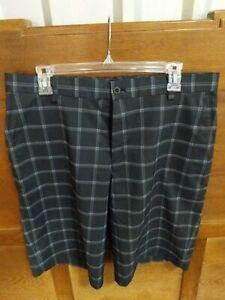 Men's Nike Dri Fit Golf Shorts Size 34 Black/White Plaid NWOT Standard Fit