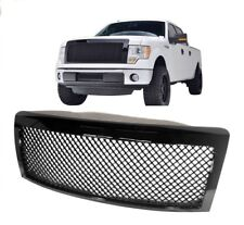 2009 2014 Ford F150 Bentley Style Gloss Black Grille Mesh Hood Upper Grill