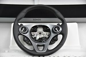 Original Smart Fortwo Sport Package Steering Leather With Schaltpaddeln C453