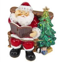 RUCINNI Santa/Tree Jeweled Trinket Box