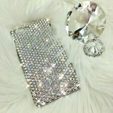 For iPhone 8 Plus - Clear Diamond Bling Back Case w/ Swarovski Crystals 24ss