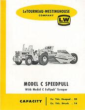 Le Tourneau C Speedpull C-Pull Scraper Brochure