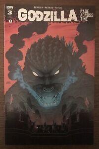 Godzilla Rage Across Time #3 Retailer Incentive 2016 Variant IDW Comic Book