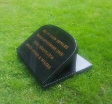 memorial plaque, engraved personalised headstone, grave marker granite