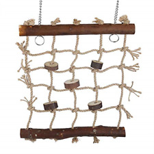 Natural Wood Bird Foraging Wall Toy Safe to Chew Net Mat Toys Parrot Perch Pet