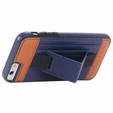 Patterned Synthetic Leather Mobile Phone Fitted Cases with Kickstand