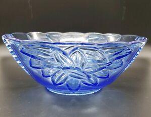 Art Deco Glass Bowl by Stolzle Hermanova Hutt