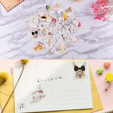 45x/pack Kawaii Rabbit Mini Paper Stickers Decors DIY Scrapbooking Stickers WF