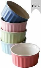 6 Oz Ceramic Ramekin Baking Dish For Souffle, Creme Brulee & Ice Creme, Set of 5