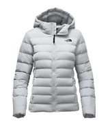 The North Face White  Hooded Stretch Down Jacket Women's Size M H1302