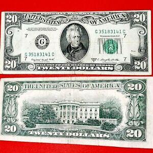 1950 C $20 ERROR MISCUT / MISPRINT , vantage  bill (71 years old)