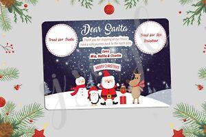 Personalised Christmas Eve Santa Treat Board Place Mats Xmas Gift Present #5